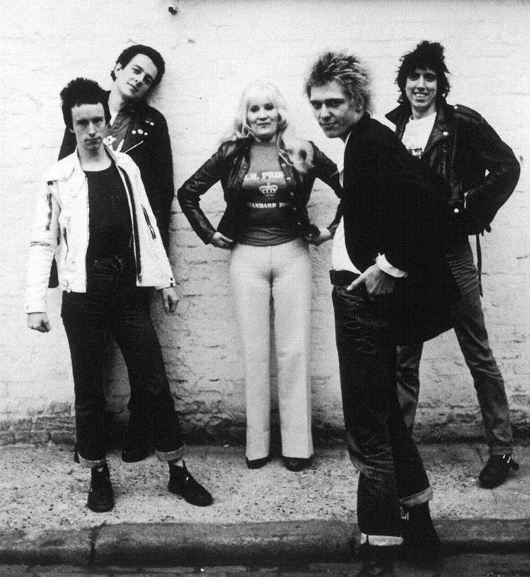 The Clash with Janie Jones Portrait