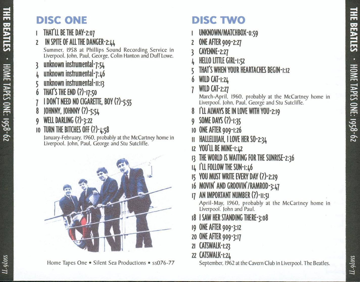 Complete Home Recordings 1958-62-back