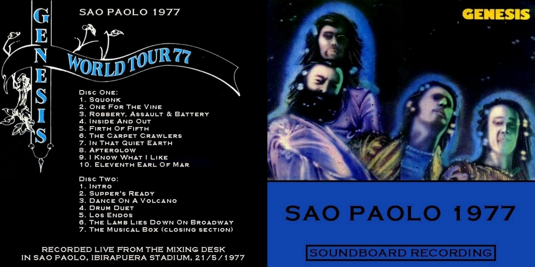 GENESIS – SAO PAULO 77 – ACE BOOTLEGS