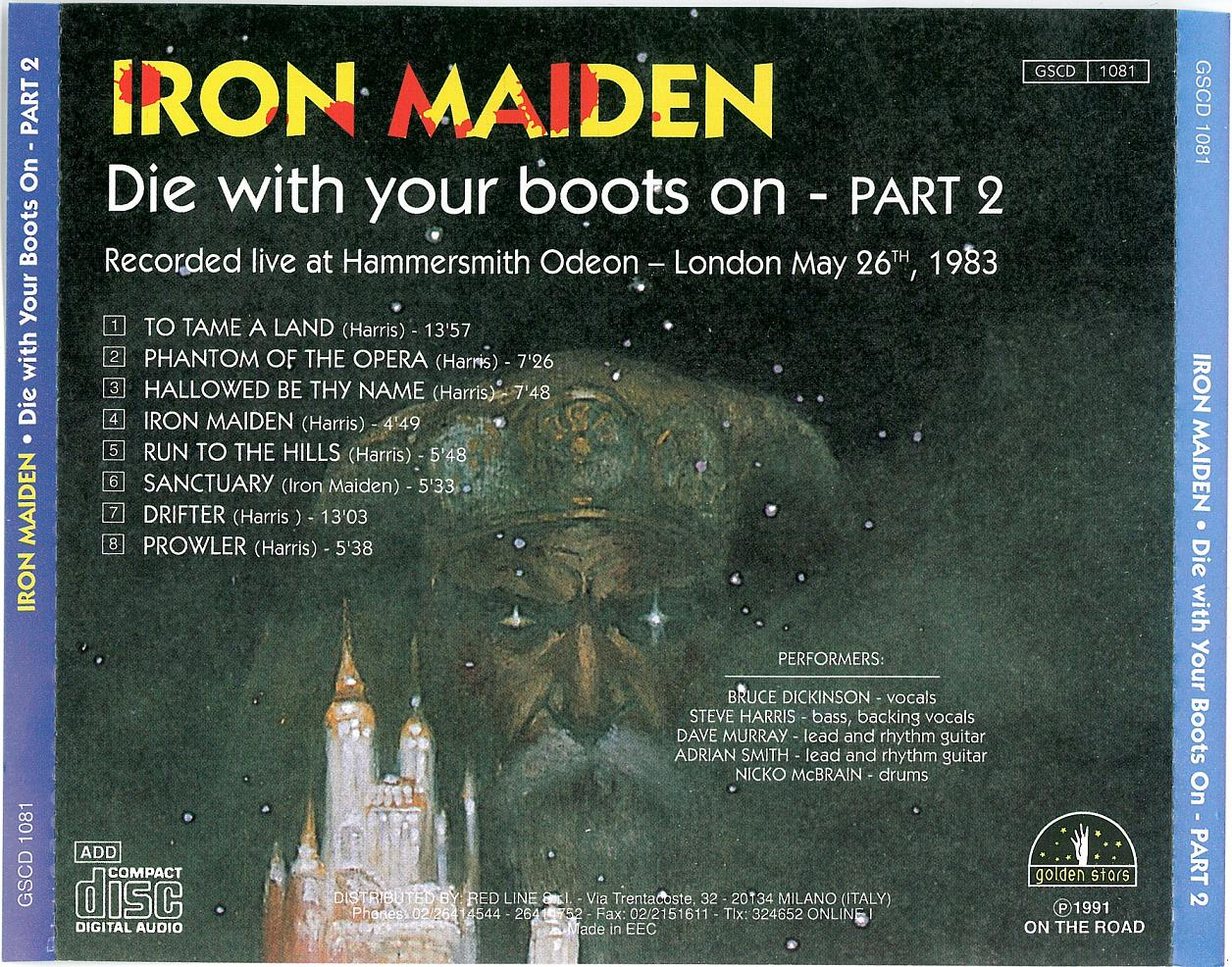 IRON MAIDEN – DIE WITH YOUR BOOTS ON – ACE BOOTLEGS