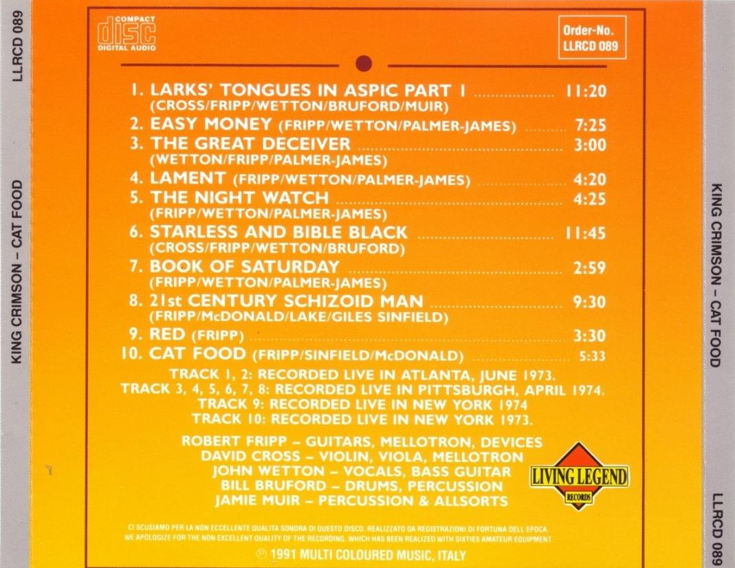 1973-1974 - Cat Food (back)
