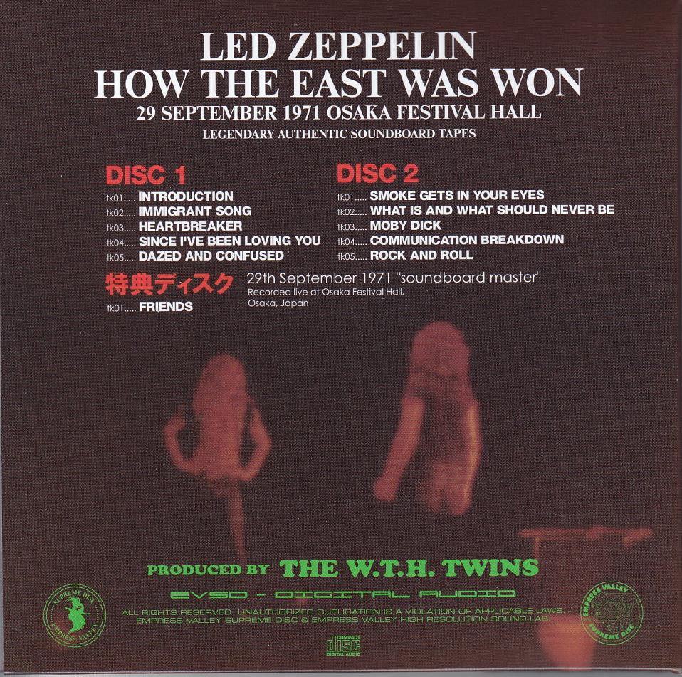 LED ZEPPELIN – HOW THE EAST WAS WON – ACE BOOTLEGS