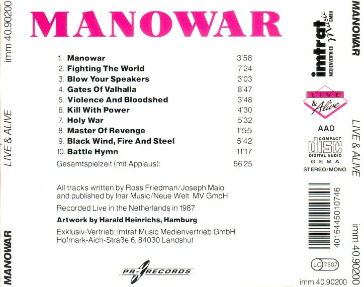 MANOWAR – LIVE & ALIVE – ACE BOOTLEGS
