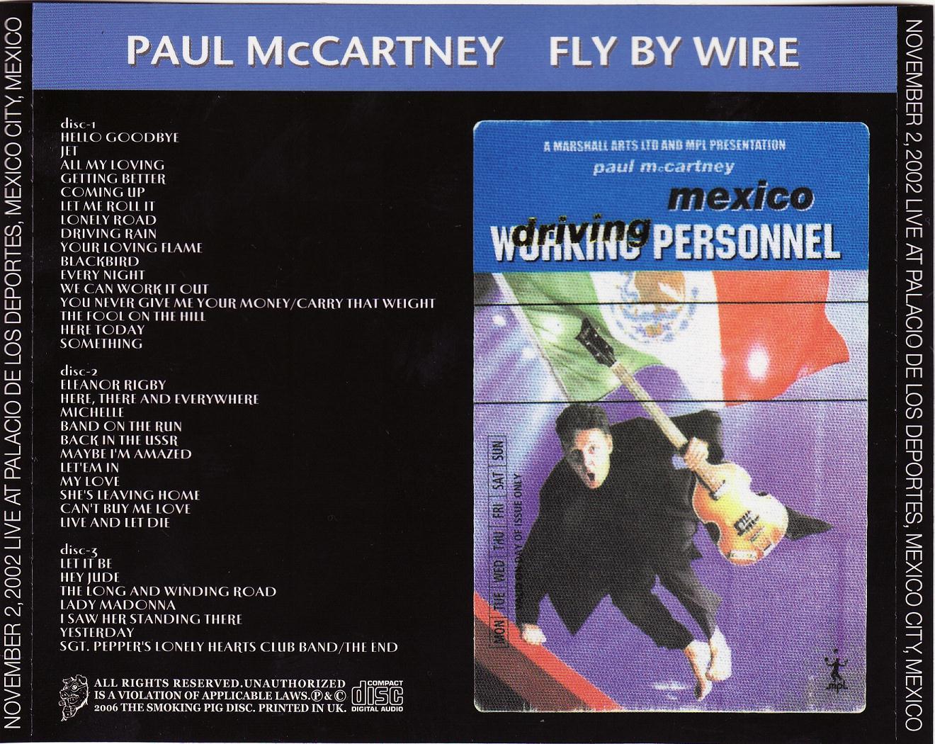 PAUL McCARTNEY – FLY BY WIRE – ACE BOOTLEGS