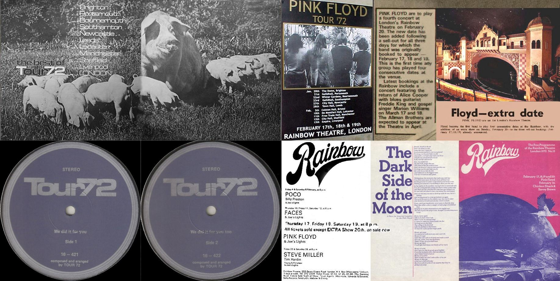 PINK FLOYD – THE BEST OF TOUR 72 – ACE BOOTLEGS