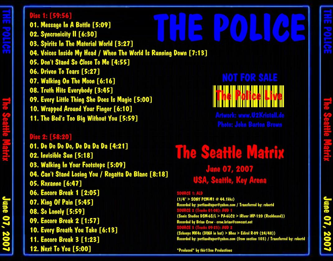THE POLICE – THE SEATTLE MATRIX – ACE BOOTLEGS