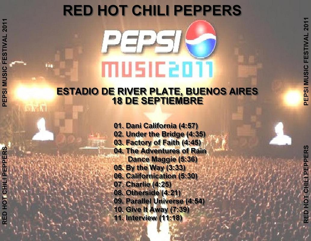 RED HOT CHILI PEPPERS – PEPSI MUSIC FESTIVAL 2011 – ACE BOOTLEGS