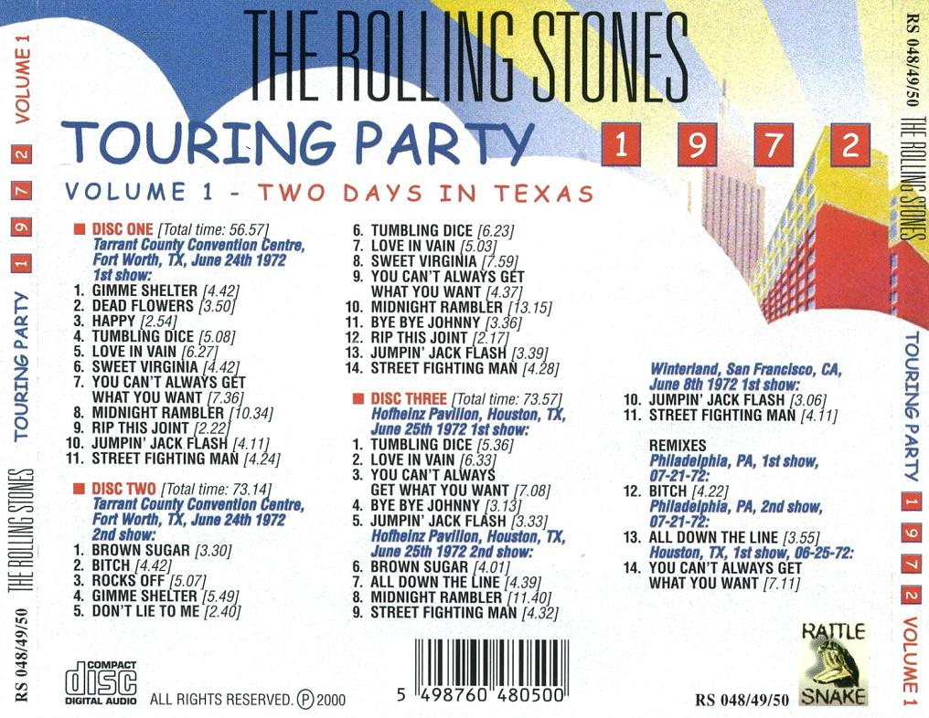 THE ROLLING STONES – TOURING PARTY '72 – ACE BOOTLEGS
