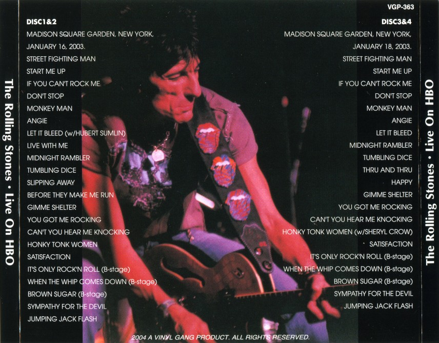 THE ROLLING STONES – LIVE ON HBO – ACE BOOTLEGS