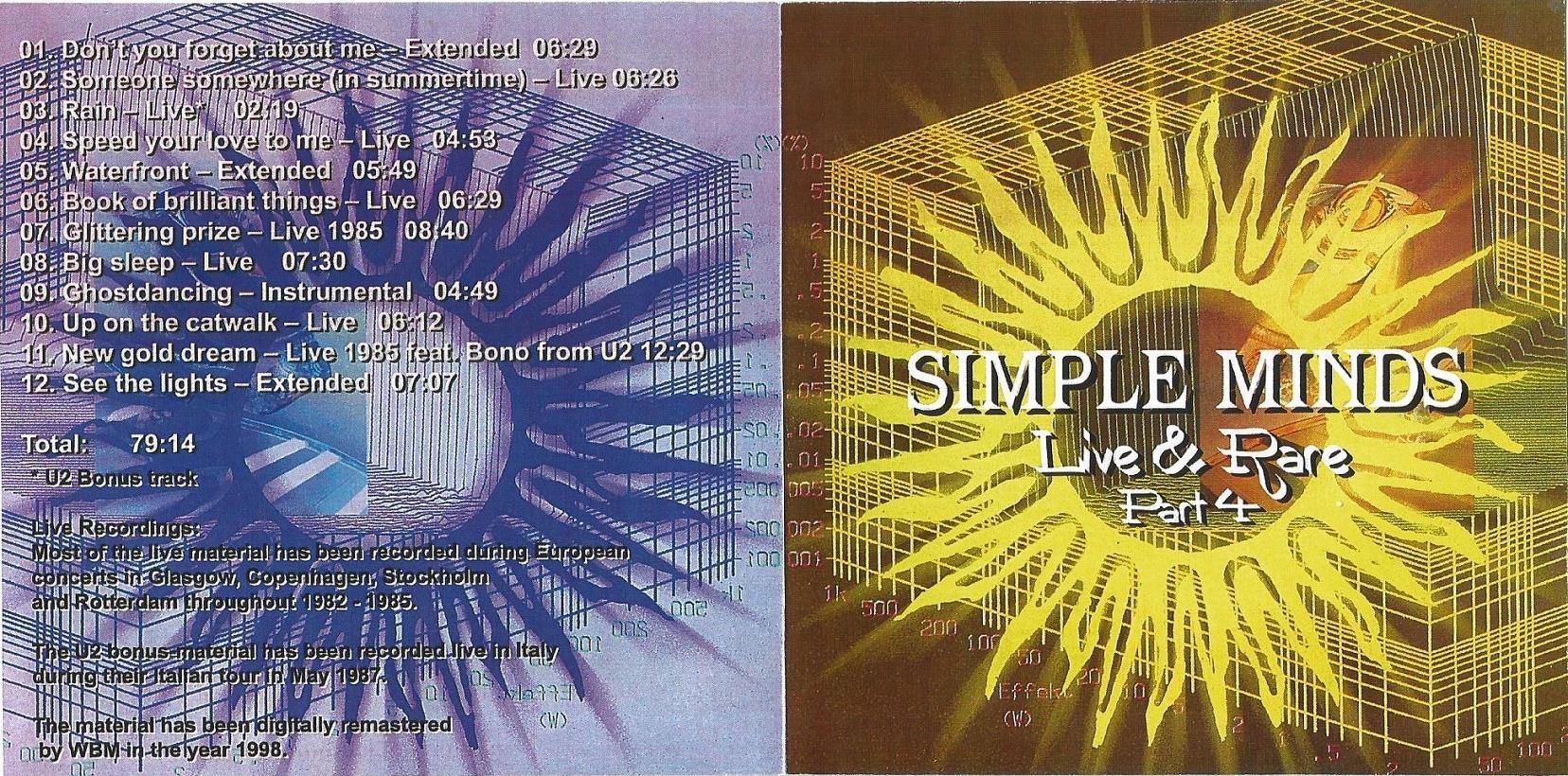 SIMPLE MINDS – LIVE & RARE – ACE BOOTLEGS