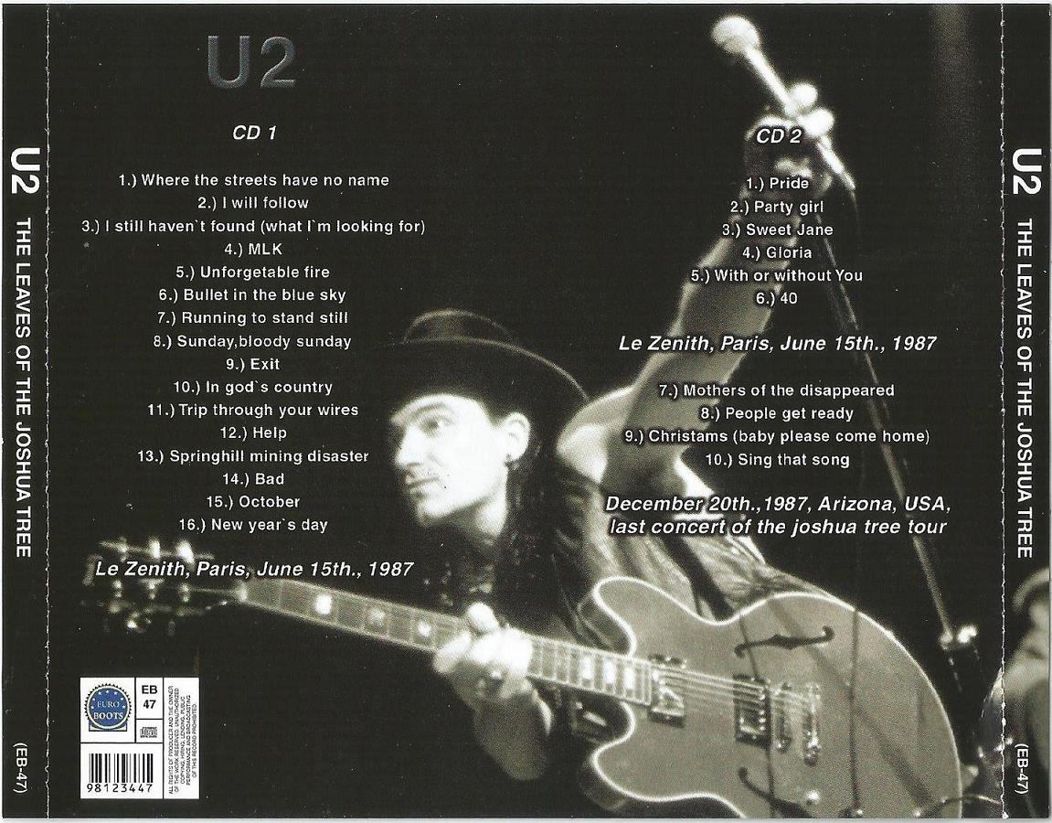 U2 – THE LEAVES OF THE JOSHUA TREE | ACE BOOTLEGS